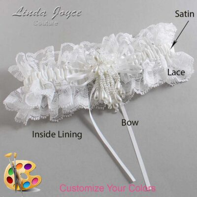 Couture Garters / Custom Wedding Garter / Customizable Wedding Garters / Personalized Wedding Garters / Layla #11-B10-M38 / Wedding Garters / Bridal Garter / Prom Garter / Linda Joyce Couture