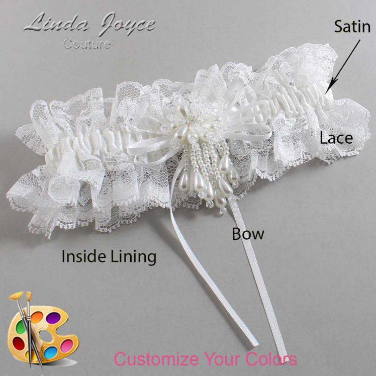 Couture Garters / Custom Wedding Garter / Customizable Wedding Garters / Personalized Wedding Garters / Layla #11-B10-M38 / Wedding Garters / Bridal Garter / Prom Garter / Linda Joyce Couture