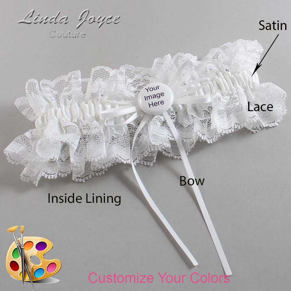 Customizable Wedding Garter / US-Military Custom Button #11-B10-M44
