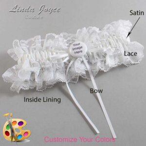 Couture Garters / Custom Wedding Garter / Customizable Wedding Garters / Personalized Wedding Garters / Custom Button #11-B10-M44 / Wedding Garters / Bridal Garter / Prom Garter / Linda Joyce Couture
