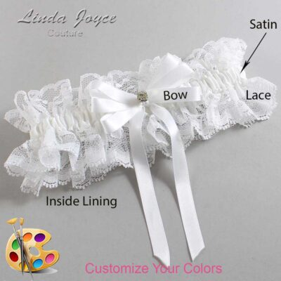 Customizable Wedding Garter / Venessa #11-B12-M03-Gold