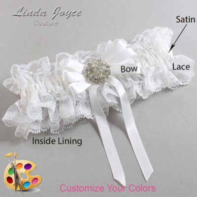 Couture Garters / Custom Wedding Garter / Customizable Wedding Garters / Personalized Wedding Garters / Ashton #11-B12-M11 / Wedding Garters / Bridal Garter / Prom Garter / Linda Joyce Couture