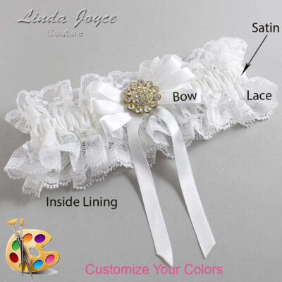 Customizable Wedding Garter / Brett #11-B12-M12-Gold