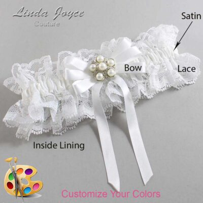 Customizable Wedding Garter / Carmilla #11-B12-M13-Silver