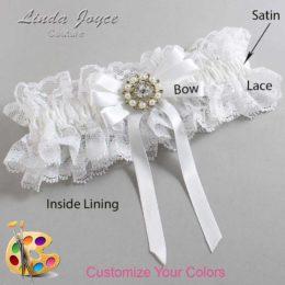 Customizable Wedding Garter / Robin #11-B12-M14-Silver