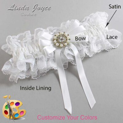 Couture Garters / Custom Wedding Garter / Customizable Wedding Garters / Personalized Wedding Garters / Robin #11-B12-M14 / Wedding Garters / Bridal Garter / Prom Garter / Linda Joyce Couture