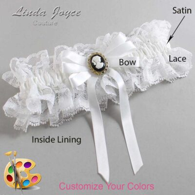 Couture Garters / Custom Wedding Garter / Customizable Wedding Garters / Personalized Wedding Garters / Sally #11-B12-M15 / Wedding Garters / Bridal Garter / Prom Garter / Linda Joyce Couture