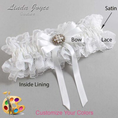 Customizable Wedding Garter / Tanya #11-B12-M16-Gold