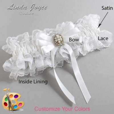 Couture Garters / Custom Wedding Garter / Customizable Wedding Garters / Personalized Wedding Garters / Whitney #11-B12-M17 / Wedding Garters / Bridal Garter / Prom Garter / Linda Joyce Couture