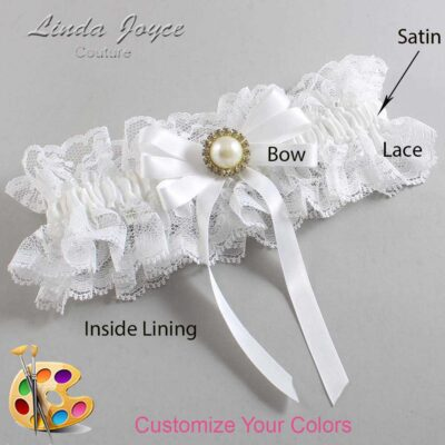 Couture Garters / Custom Wedding Garter / Customizable Wedding Garters / Personalized Wedding Garters / Carol #11-B12-M21 / Wedding Garters / Bridal Garter / Prom Garter / Linda Joyce Couture