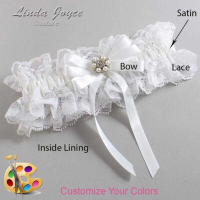 Couture Garters / Custom Wedding Garter / Customizable Wedding Garters / Personalized Wedding Garters / Thelma #11-B12-M23 / Wedding Garters / Bridal Garter / Prom Garter / Linda Joyce Couture