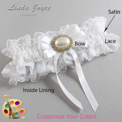Couture Garters / Custom Wedding Garter / Customizable Wedding Garters / Personalized Wedding Garters / Velma #11-B12-M28 / Wedding Garters / Bridal Garter / Prom Garter / Linda Joyce Couture