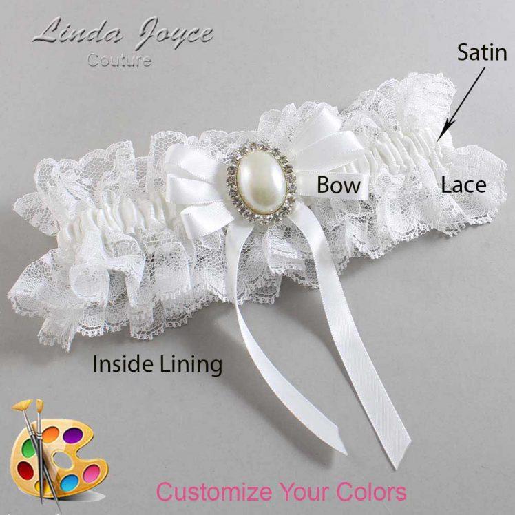 Couture Garters / Custom Wedding Garter / Customizable Wedding Garters / Personalized Wedding Garters / Zoe #11-B12-M31 / Wedding Garters / Bridal Garter / Prom Garter / Linda Joyce Couture