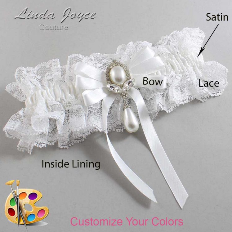 Couture Garters / Custom Wedding Garter / Customizable Wedding Garters / Personalized Wedding Garters / Patsy #11-B12-M32 / Wedding Garters / Bridal Garter / Prom Garter / Linda Joyce Couture
