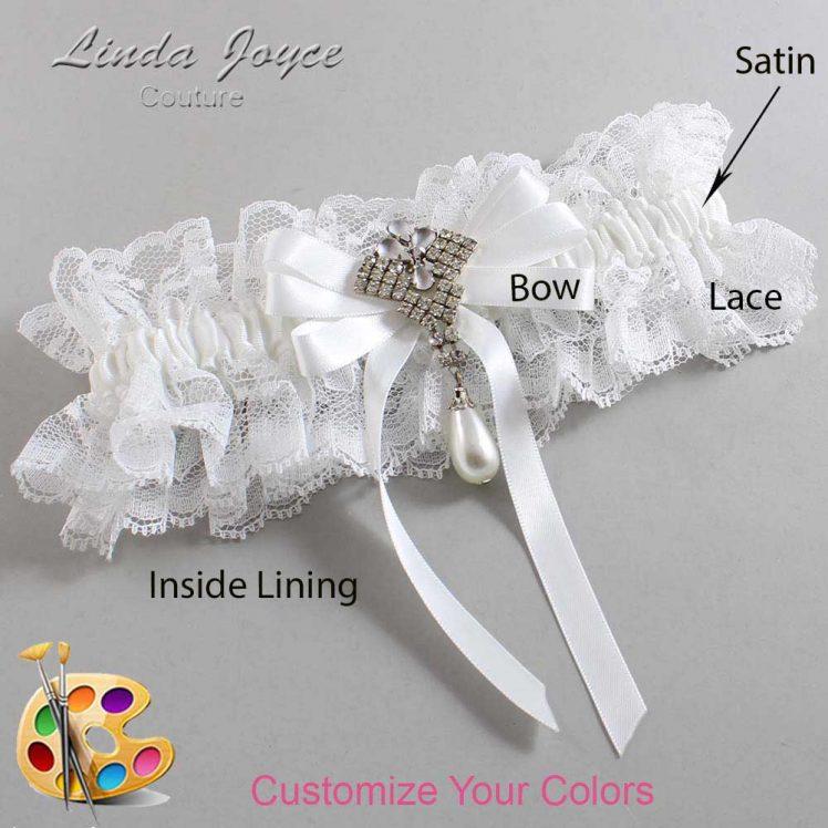 Couture Garters / Custom Wedding Garter / Customizable Wedding Garters / Personalized Wedding Garters / Priscilla #11-B12-M33 / Wedding Garters / Bridal Garter / Prom Garter / Linda Joyce Couture