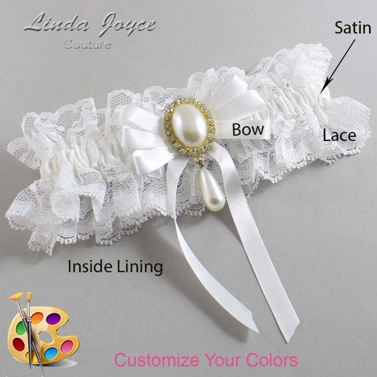 Couture Garters / Custom Wedding Garter / Customizable Wedding Garters / Personalized Wedding Garters / Yvonne #11-B12-M34 / Wedding Garters / Bridal Garter / Prom Garter / Linda Joyce Couture