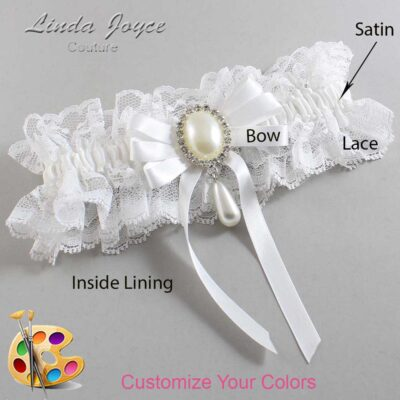 Couture Garters / Custom Wedding Garter / Customizable Wedding Garters / Personalized Wedding Garters / Yvonne #11-B12-M35 / Wedding Garters / Bridal Garter / Prom Garter / Linda Joyce Couture