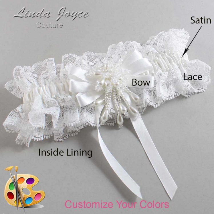 Couture Garters / Custom Wedding Garter / Customizable Wedding Garters / Personalized Wedding Garters / Paula #11-B12-M38 / Wedding Garters / Bridal Garter / Prom Garter / Linda Joyce Couture