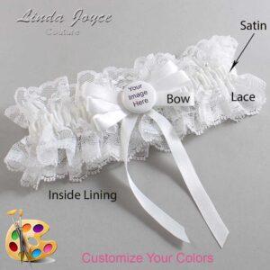 Couture Garters / Custom Wedding Garter / Customizable Wedding Garters / Personalized Wedding Garters / Custom Button #11-B12-M44 / Wedding Garters / Bridal Garter / Prom Garter / Linda Joyce Couture