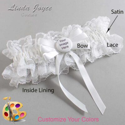 Couture Garters / Custom Wedding Garter / Customizable Wedding Garters / Personalized Wedding Garters / Custom Button #11-B12-M44 / Wedding Garters / Bridal Garter / Prom Garter / Linda Joyce Couture