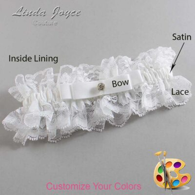 Couture Garters / Custom Wedding Garter / Customizable Wedding Garters / Personalized Wedding Garters / Lana #11-B20-M03 / Wedding Garters / Bridal Garter / Prom Garter / Linda Joyce Couture