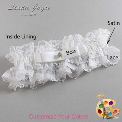 Couture Garters / Custom Wedding Garter / Customizable Wedding Garters / Personalized Wedding Garters / Lana #11-B20-M04 / Wedding Garters / Bridal Garter / Prom Garter / Linda Joyce Couture
