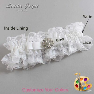 Couture Garters / Custom Wedding Garter / Customizable Wedding Garters / Personalized Wedding Garters / Alexis #11-B20-M11 / Wedding Garters / Bridal Garter / Prom Garter / Linda Joyce Couture