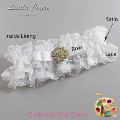 Couture Garters / Custom Wedding Garter / Customizable Wedding Garters / Personalized Wedding Garters / Bella #11-B20-M12 / Wedding Garters / Bridal Garter / Prom Garter / Linda Joyce Couture