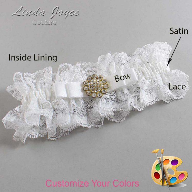 Couture Garters / Custom Wedding Garter / Customizable Wedding Garters / Personalized Wedding Garters / Bella #11-B20-M12 / Wedding Garters / Bridal Garter / Prom Garter / Linda Joyce Couture