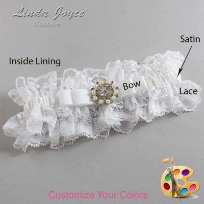 Couture Garters / Custom Wedding Garter / Customizable Wedding Garters / Personalized Wedding Garters / Kelsea #11-B20-M14 / Wedding Garters / Bridal Garter / Prom Garter / Linda Joyce Couture