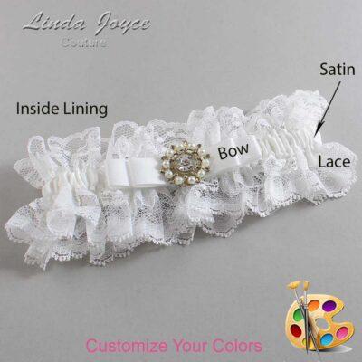 Couture Garters / Custom Wedding Garter / Customizable Wedding Garters / Personalized Wedding Garters / Kelsea #11-B20-M14 / Wedding Garters / Bridal Garter / Prom Garter / Linda Joyce Couture