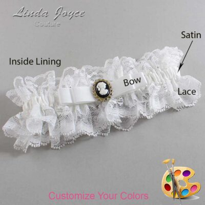 Couture Garters / Custom Wedding Garter / Customizable Wedding Garters / Personalized Wedding Garters / Avery #11-B20-M15 / Wedding Garters / Bridal Garter / Prom Garter / Linda Joyce Couture