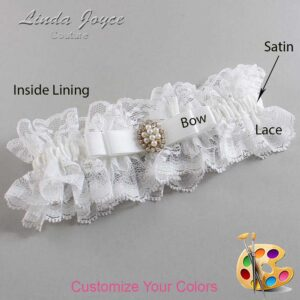 Couture Garters / Custom Wedding Garter / Customizable Wedding Garters / Personalized Wedding Garters / Inga #11-B20-M17 / Wedding Garters / Bridal Garter / Prom Garter / Linda Joyce Couture