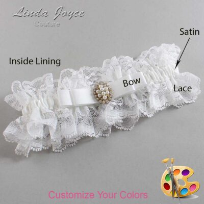 Couture Garters / Custom Wedding Garter / Customizable Wedding Garters / Personalized Wedding Garters / Inga #11-B20-M17 / Wedding Garters / Bridal Garter / Prom Garter / Linda Joyce Couture