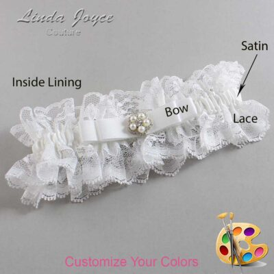 Couture Garters / Custom Wedding Garter / Customizable Wedding Garters / Personalized Wedding Garters / Audrey #11-B20-M20 / Wedding Garters / Bridal Garter / Prom Garter / Linda Joyce Couture