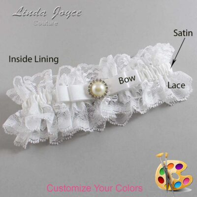 Couture Garters / Custom Wedding Garter / Customizable Wedding Garters / Personalized Wedding Garters / Jade #11-B20-M22 / Wedding Garters / Bridal Garter / Prom Garter / Linda Joyce Couture