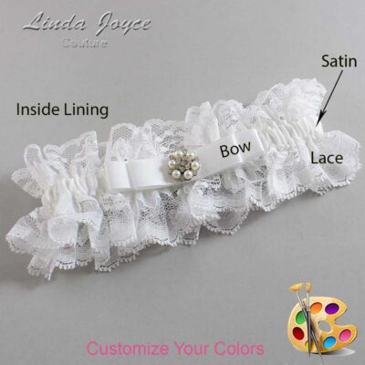 Couture Garters / Custom Wedding Garter / Customizable Wedding Garters / Personalized Wedding Garters / Frances #11-B20-M23 / Wedding Garters / Bridal Garter / Prom Garter / Linda Joyce Couture