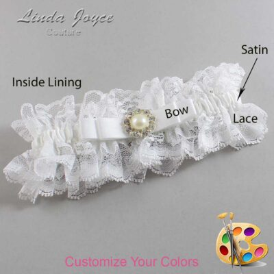 Couture Garters / Custom Wedding Garter / Customizable Wedding Garters / Personalized Wedding Garters / Brianna #11-B20-M24 / Wedding Garters / Bridal Garter / Prom Garter / Linda Joyce Couture