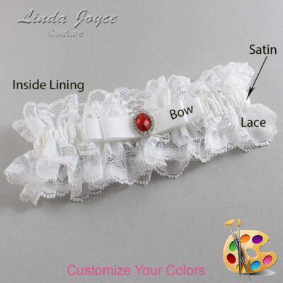 Couture Garters / Custom Wedding Garter / Customizable Wedding Garters / Personalized Wedding Garters / Nadine #11-B20-M26 / Wedding Garters / Bridal Garter / Prom Garter / Linda Joyce Couture