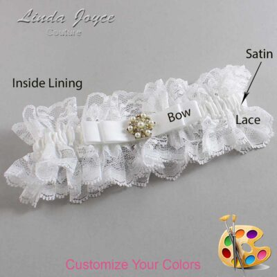 Couture Garters / Custom Wedding Garter / Customizable Wedding Garters / Personalized Wedding Garters / Becky #11-B20-M27 / Wedding Garters / Bridal Garter / Prom Garter / Linda Joyce Couture