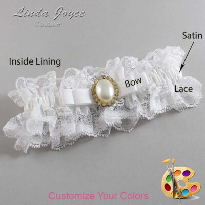 Customizable Wedding Garter / Molly #11-B20-M29-Gold