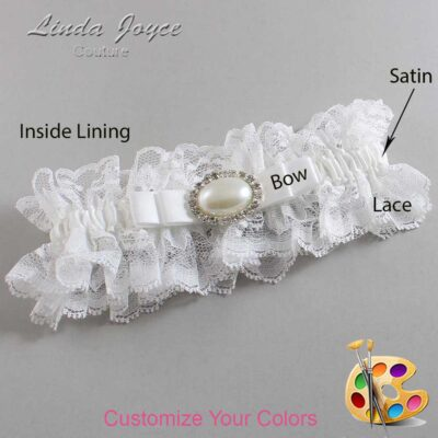 Couture Garters / Custom Wedding Garter / Customizable Wedding Garters / Personalized Wedding Garters / Martha #11-B20-M30 / Wedding Garters / Bridal Garter / Prom Garter / Linda Joyce Couture