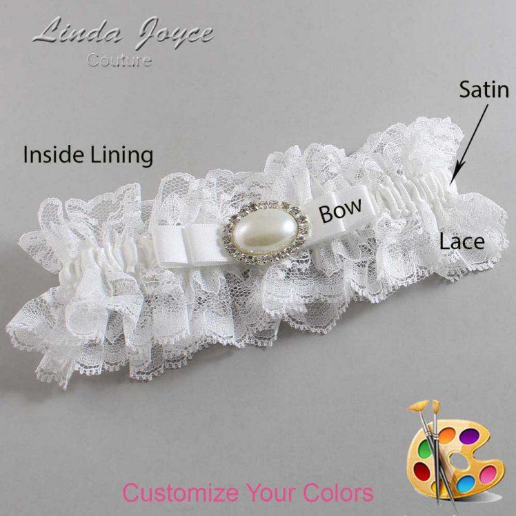 Couture Garters / Custom Wedding Garter / Customizable Wedding Garters / Personalized Wedding Garters / Martha #11-B20-M30 / Wedding Garters / Bridal Garter / Prom Garter / Linda Joyce Couture