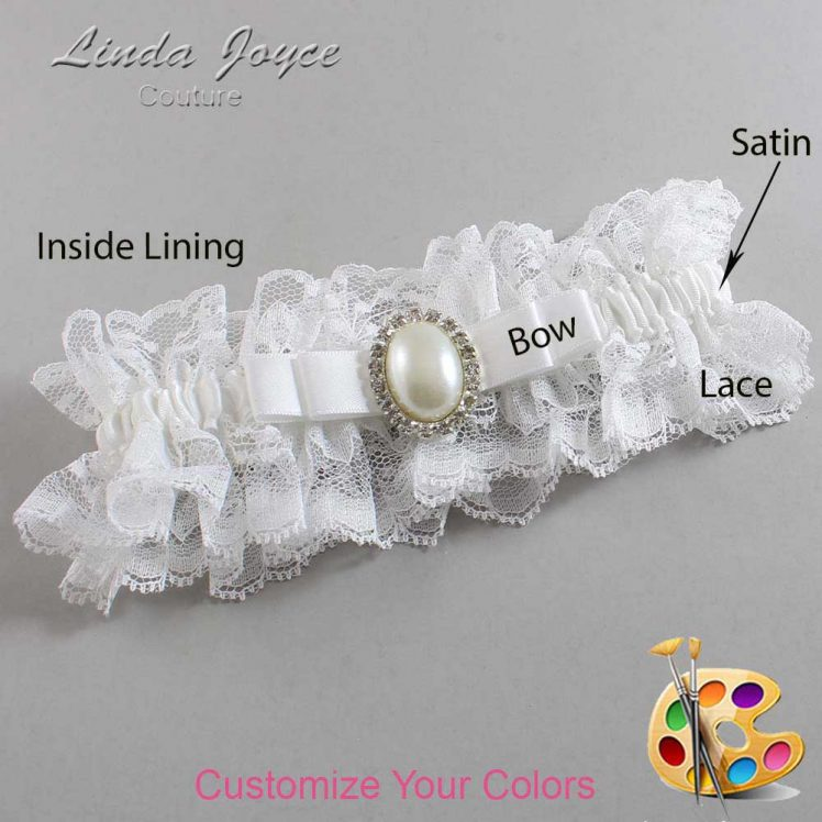 Couture Garters / Custom Wedding Garter / Customizable Wedding Garters / Personalized Wedding Garters / Molly #11-B20-M31 / Wedding Garters / Bridal Garter / Prom Garter / Linda Joyce Couture