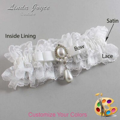 Couture Garters / Custom Wedding Garter / Customizable Wedding Garters / Personalized Wedding Garters / Joyce #11-B20-M32 / Wedding Garters / Bridal Garter / Prom Garter / Linda Joyce Couture