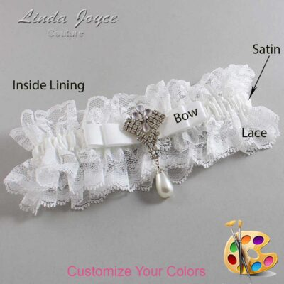 Couture Garters / Custom Wedding Garter / Customizable Wedding Garters / Personalized Wedding Garters / Miranda #11-B20-M33 / Wedding Garters / Bridal Garter / Prom Garter / Linda Joyce Couture