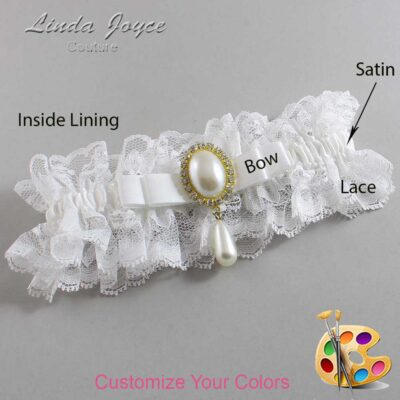 Couture Garters / Custom Wedding Garter / Customizable Wedding Garters / Personalized Wedding Garters / Myra #11-B20-M34 / Wedding Garters / Bridal Garter / Prom Garter / Linda Joyce Couture