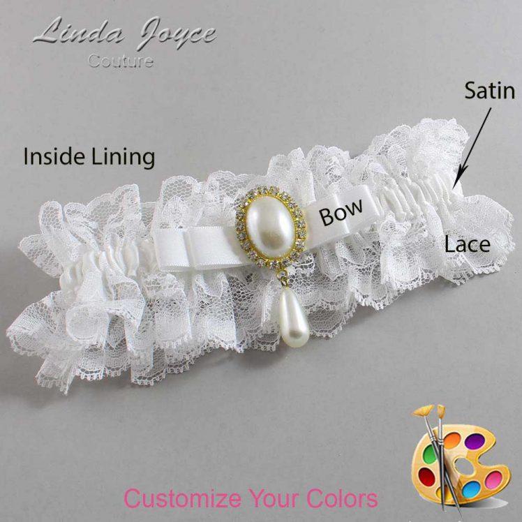 Couture Garters / Custom Wedding Garter / Customizable Wedding Garters / Personalized Wedding Garters / Myra #11-B20-M34 / Wedding Garters / Bridal Garter / Prom Garter / Linda Joyce Couture