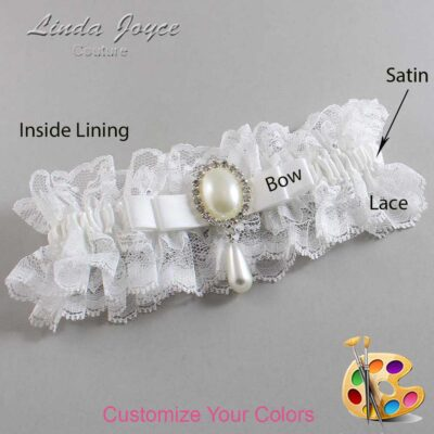 Couture Garters / Custom Wedding Garter / Customizable Wedding Garters / Personalized Wedding Garters / Myra #11-B20-M35 / Wedding Garters / Bridal Garter / Prom Garter / Linda Joyce Couture