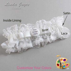 Couture Garters / Custom Wedding Garter / Customizable Wedding Garters / Personalized Wedding Garters / Custom Button #11-B20-M44 / Wedding Garters / Bridal Garter / Prom Garter / Linda Joyce Couture
